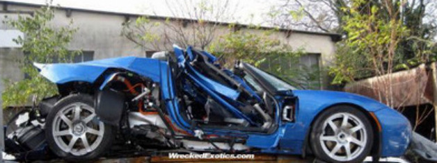 Tesla Roadster Wreck